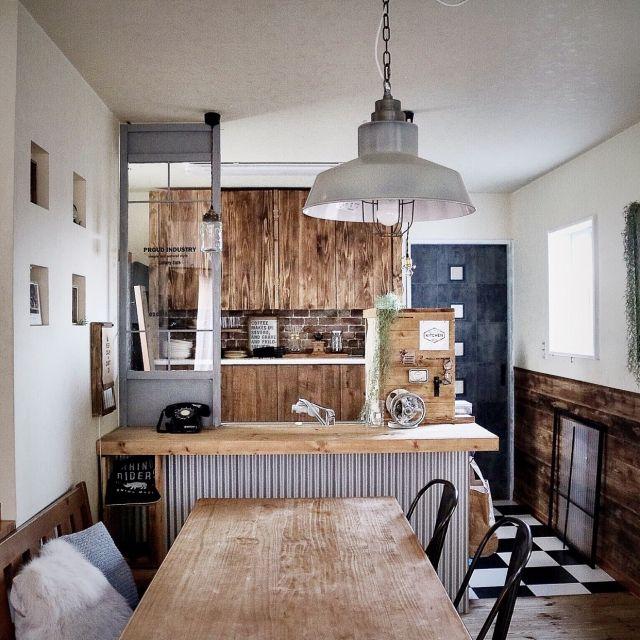 キッチンカウンターDIY特集♪自分仕様が一番おしゃれ♪ | RoomClip mag | 暮らしとインテリアのwebマガジン