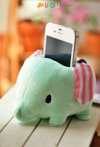 Éléphant porte-téléphone portable