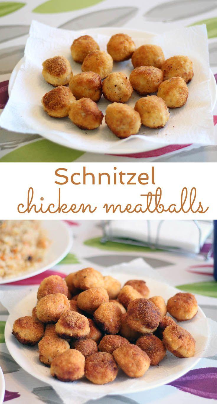 Schnitzel chicken meatballs, the best way to eat chicken! In two ...
