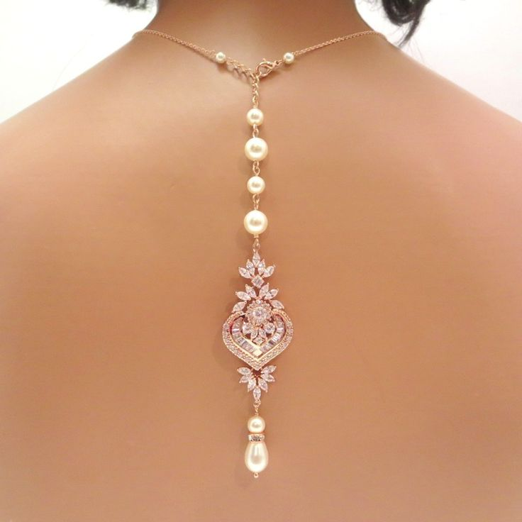 Treasures Handcrafted Rose Gold Back Necklace 26
