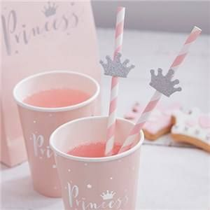 JUST ADDED - Itty Bitty Party Princess Perfection Paper Straws with Flags  VIEW HERE: