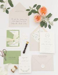Heather O'Brien Design | Wedding Invitations | Eucalyptus Invitation
