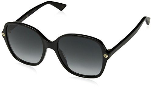 c8b2ee0484a Gucci GG0092S 001 Black GG0092S Square Sunglasses Lens Category 3 Size 55mm