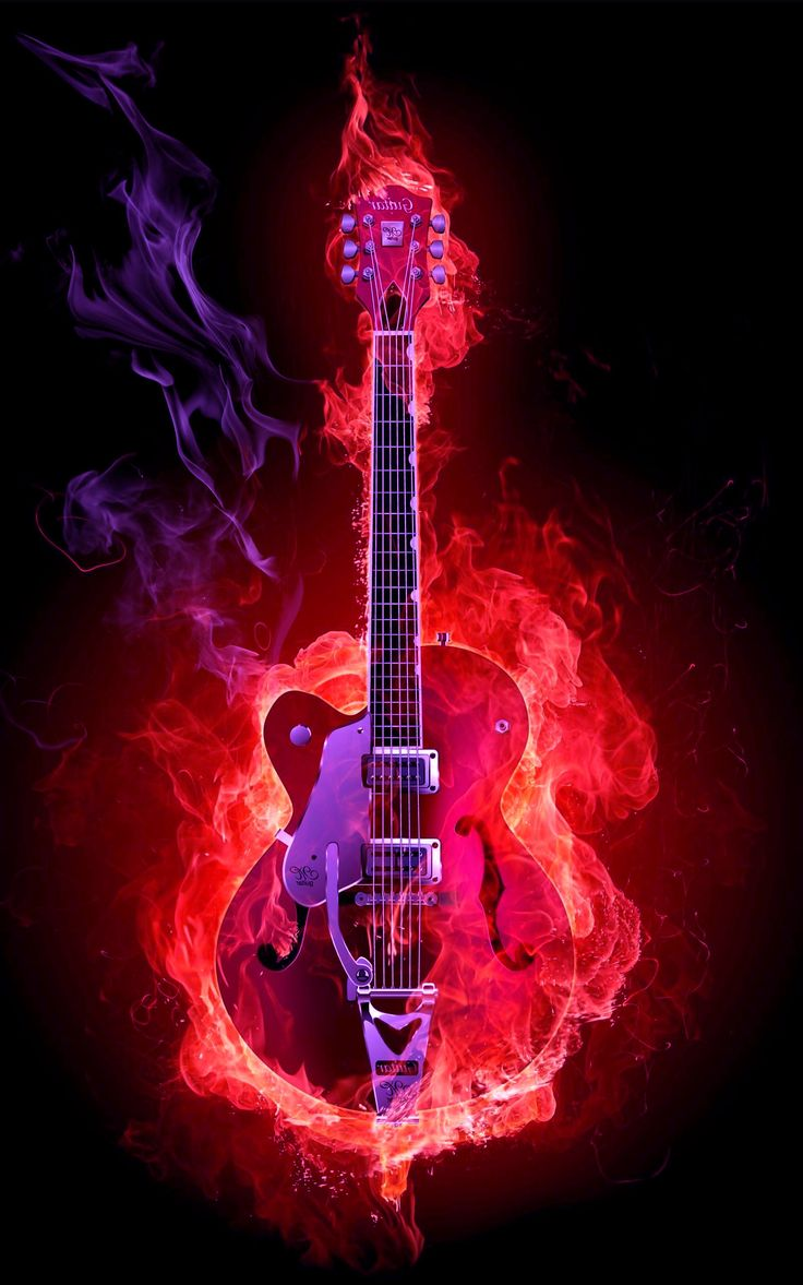 Pics Photos – Guitar Fire Flame 1920×1200 On The Desktop Pictures 3d Wallpapers