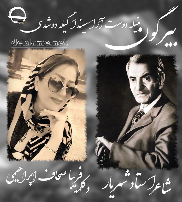 دوست شاعر استاد شهریار دکلمه ترکی فریبا صحاف ابراهیمی Movie Posters Movies Poster