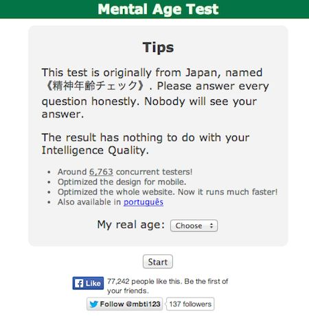 Japan Mental Age Test shows you how old you really are