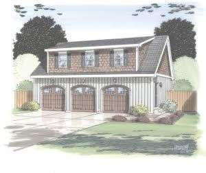 27 best images about garage on pinterest house plans 3 for Modular carriage house garage
