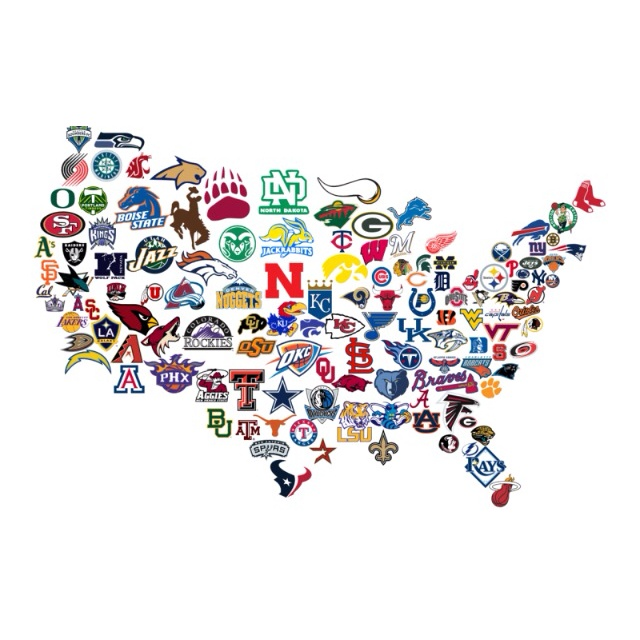 Best Sports Logos Images On Pinterest Sports Logos Baseball - Map of us baseball teams