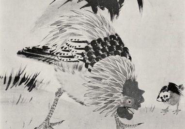伊藤若冲筆:鶏図
