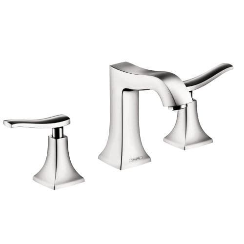 Hansgrohe 31073 Metris C Widespread Bathroom Faucet with EcoRight, Quick Clean, and ComfortZone Technologies - Drain Assembly (