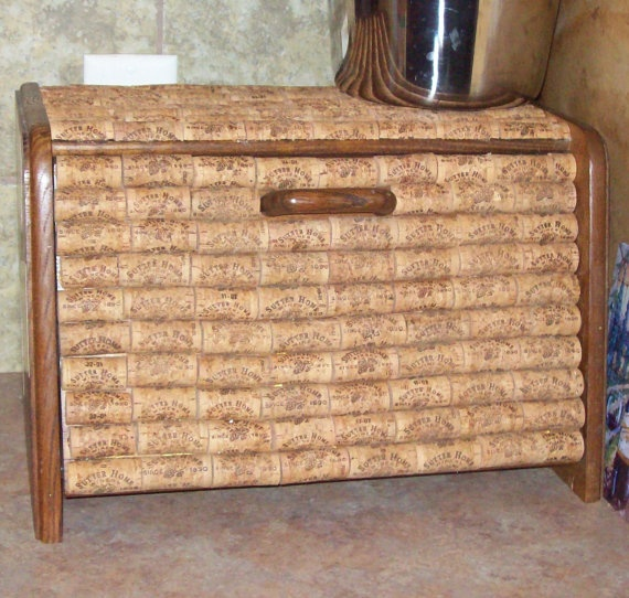 Neat idea for a yard sale or Goodwill find.  Bread box!