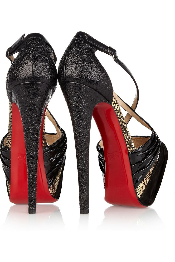 Christian Louboutin Divinoche Heels WITH BOX More than great condition  Comes with box and dustbags , Also attached to the soles are red Louboutin  Heel ...