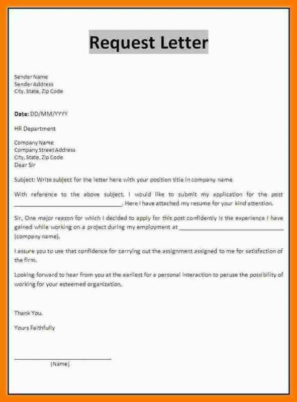 Letter Format Mail With Images Application Letters Business