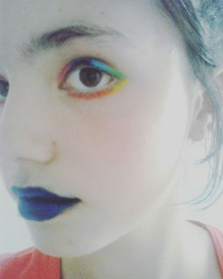 My rainbow makeup