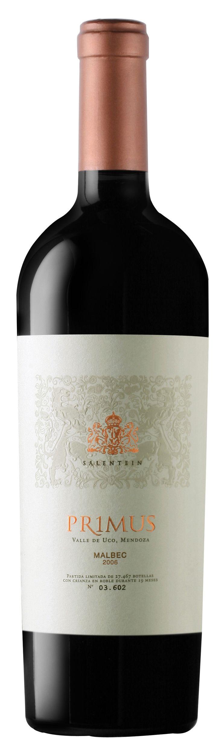 Mi vino favorito Malbec, Mendoza, Argentina, en este caso un Salentein Primus Malbec 2003