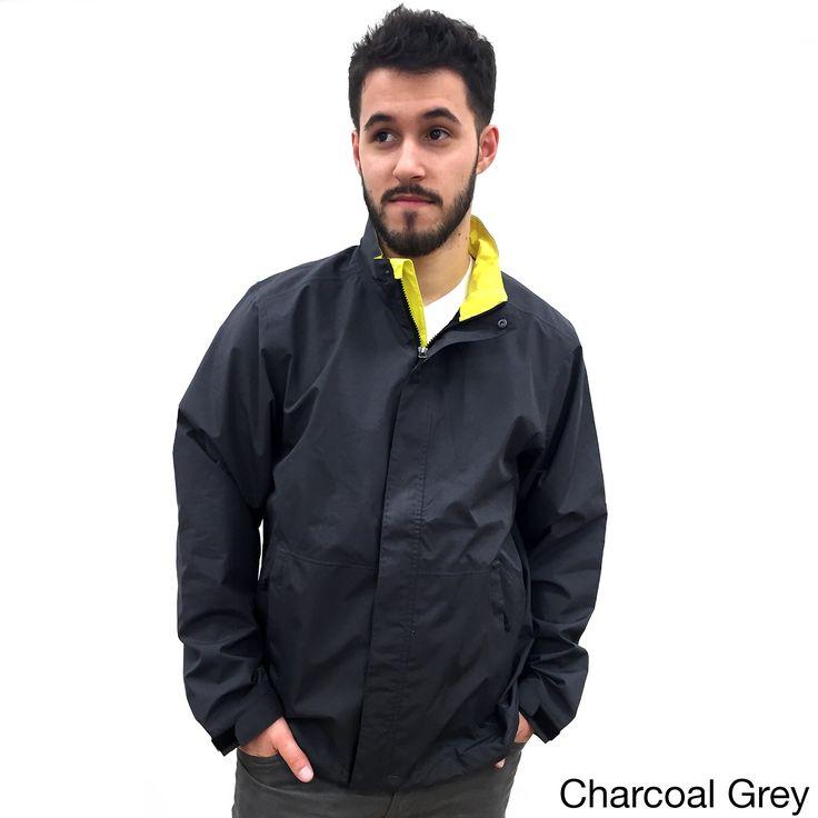 Narragansett Traders Men's Charcoal and Green Lightweight Waterproof Jacket