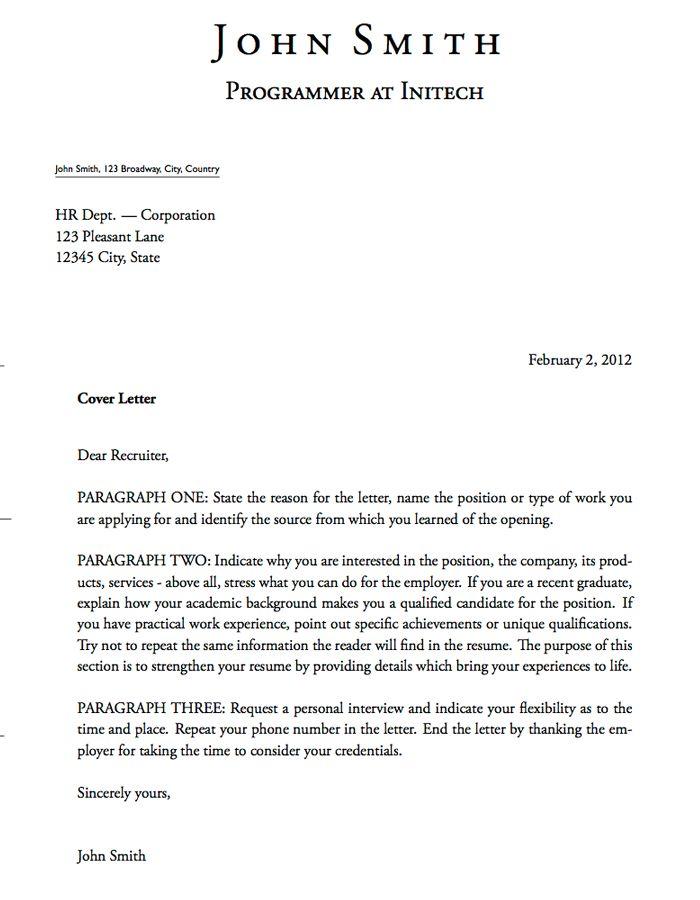 Sample Professional Letter Formats More Cover Letter Layout Ideas