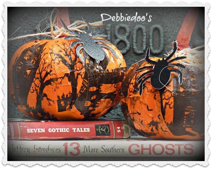 Mod Podge dollar store pumpkins - with napkins