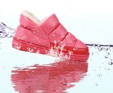 2016 Плюс Размер 35-44 Мужчин и Женщин Зима Снег Сапоги Теплые Плоские и Водонепроницаемые Ботинки Платформы Дома обувь(China (Mainland))