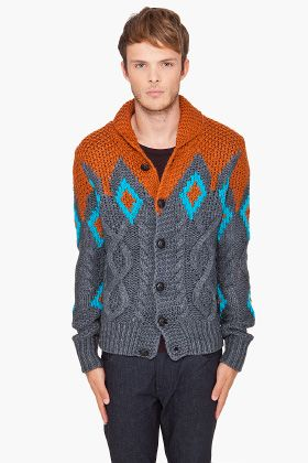 Chunky Colorful Cardigan. Diesel.