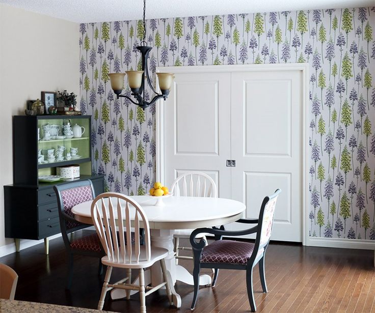 My dining room wallpaper installation was featured on Graham and Brown's blog. Top five floral wallpapers | Graham & Brown
