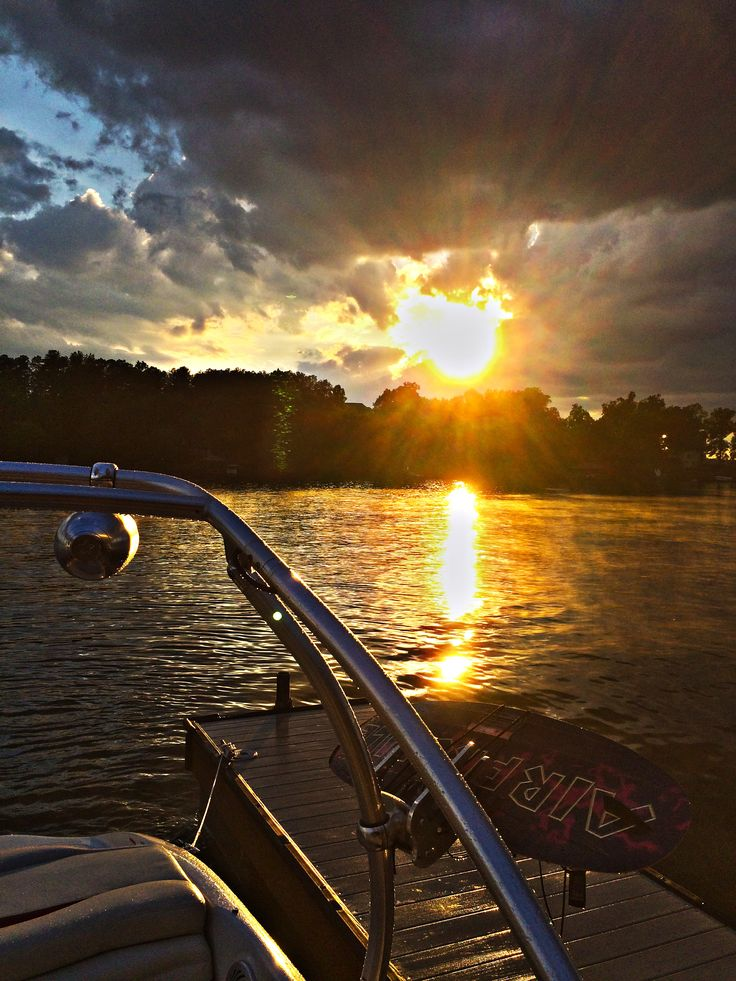 Beautiful sunset on Lake Norman after a monster thunderstorm.