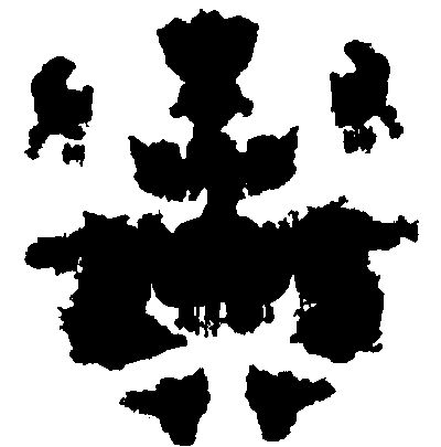 The Rorschach ... what you see is what you bring with you.