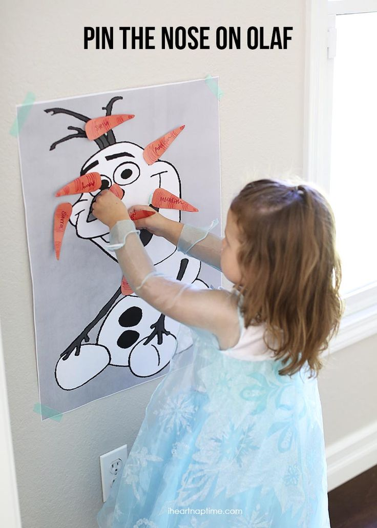 Frozen Party Ideas - Pin the Nose on Olaf - How cute!! Get all the craft supplies needed via #FlyingKalie: http://stores.ebay.com/FlyingKalie
