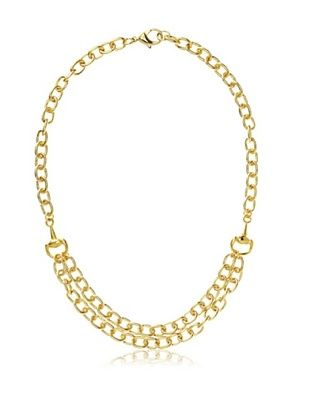 55% OFF Privileged Gold Double Bit Chain Necklace