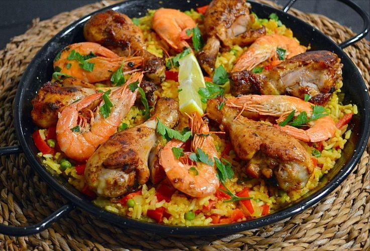 Spaanse paella met kip en garnalen | Ramadanrecepten.nl