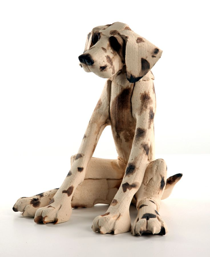 Dogs in Art at the StockBridge Gallery - Seated Spotty Dog by Virginia Dowe Edwards, Large Size @ £325 - Small Size @ £225 (http://www.dogsinart.com/seated-spotty-dog-by-virginia-dowe-edwards/)