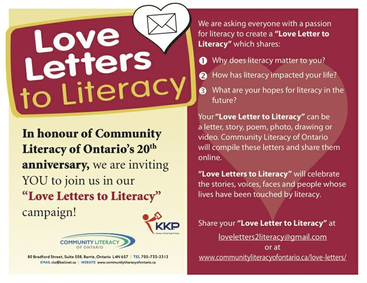 Thank You To Our Wonderful Sponsor Kwik Kopy Barrie For Printing Extra Copies Of Literacy ProgramsLove LettersPostcardsOntarioCartas