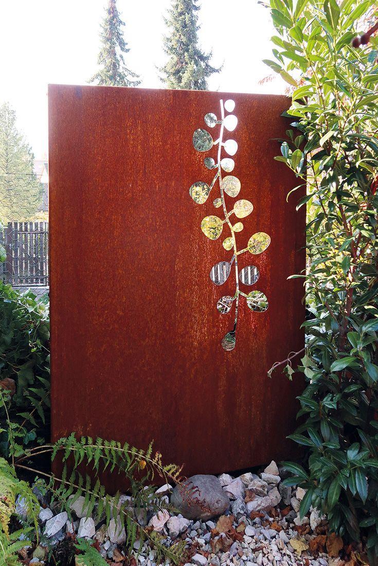 Sichtschutz Fur Den Garten Aus Corten Motiv Rebe
