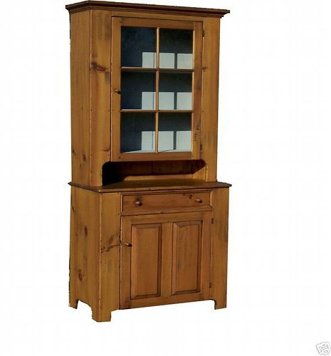 PRIMITIVE HUTCH STEP BACK CUPBOARD EARLY AMERICAN ANTIQUE REPRODUCTION STEPBACK | eBay