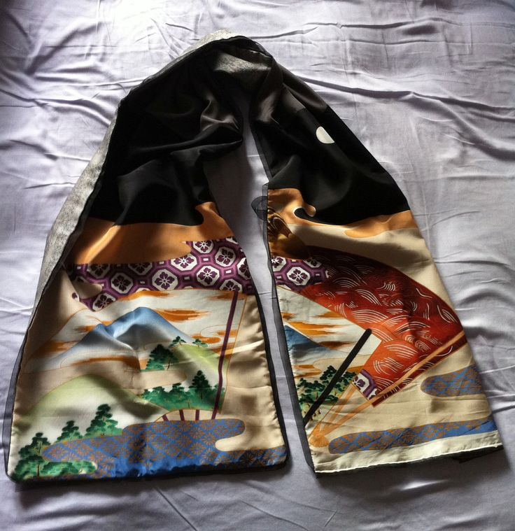 jap style scarf - hand made with silk