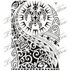 Marketplace Tattoo Polynesian half-sleeve 02 #8516   CreateMyTattoo.com