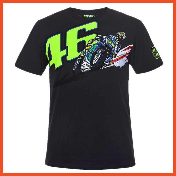 Free Shipping Summer Causal Sport Tee Life Style Moto GP Motorcycle Banking Vale T-shirt For Valentino Rossi VR46 Black T shirt