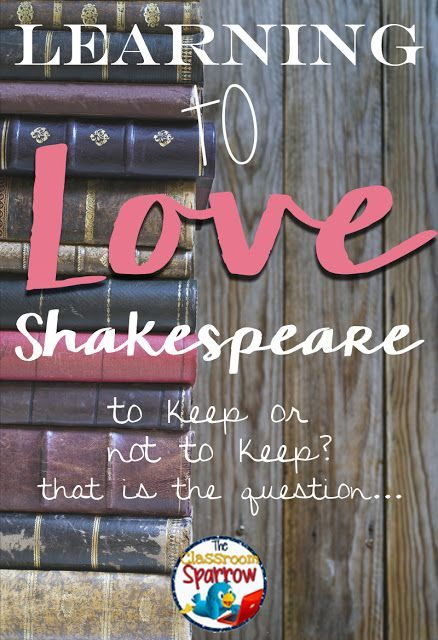 This is too hard! I don't get this! Why are we reading this? Do these sound familiar? If you're a high school English teacher teaching Shakespeare they do!