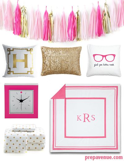 Preppy Dorm Room Ideas | www.prepavenue.com