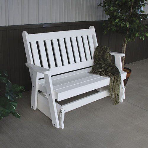 Have to have it. A & L Furniture Traditional English Recycled Plastic 4 ft. Outdoor Glider Loveseat - $479.99 @hayneedle