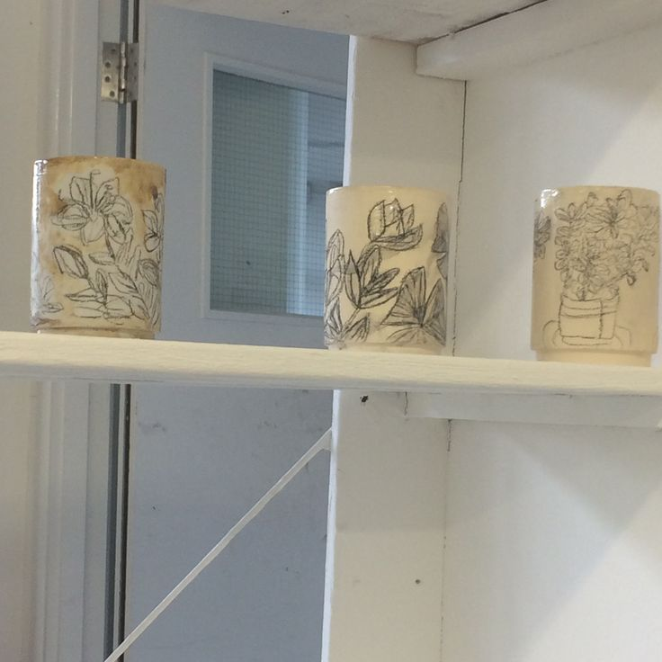 17/5/16 I started to display my work on the shelfs , I think it is going to take quite a while to unpack my nine boxes of ceramic work . Also it will take a lot of thought to which pieces to have on display .