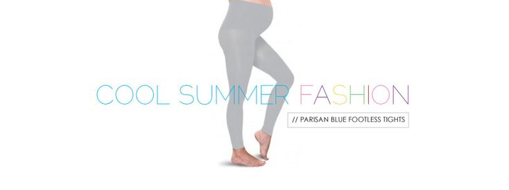 Preggers Gradient Compression Footless Tights in Parisian Blue for summer look