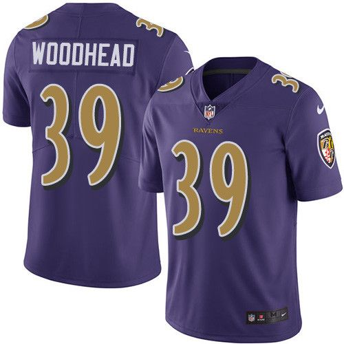 Youth Nike Baltimore Ravens #39 Danny Woodhead Limited Purple Rush NFL Jersey