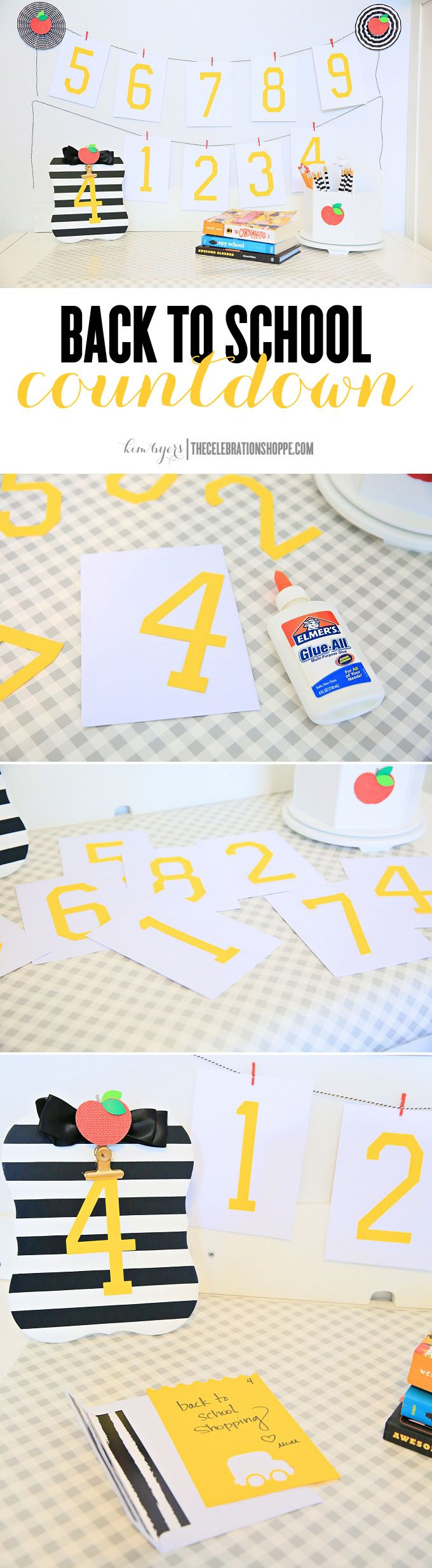 Easy and Creative Back To School Countdown with Elmer's - make the last days of summer fun!  | Kim Byers TheCelebrationShoppe.com