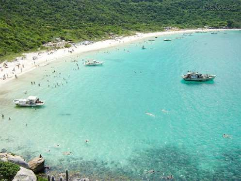 """Conhecida como a """"Capital Brasileira do Mergulho"""", Arraial do Cabo, no Rio de Janeiro, atrai turista... - Reprodução"""