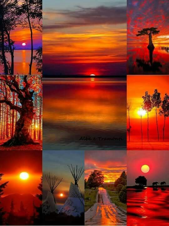 Beautiful Images Sunsets Nature Silhouettes Dawn Photography Ideas Collage Landscapes Photos