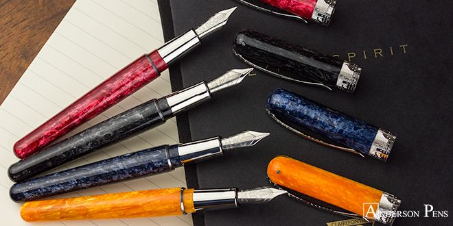 Browse the new Pineider collection, available in fountain pens, ballpoints, and roller balls. Featuring attractive hand-turned resin, these writing instruments are a treat! ___ #fpn #fpgeeks #fountainpen #fountainpens #andersonpens
