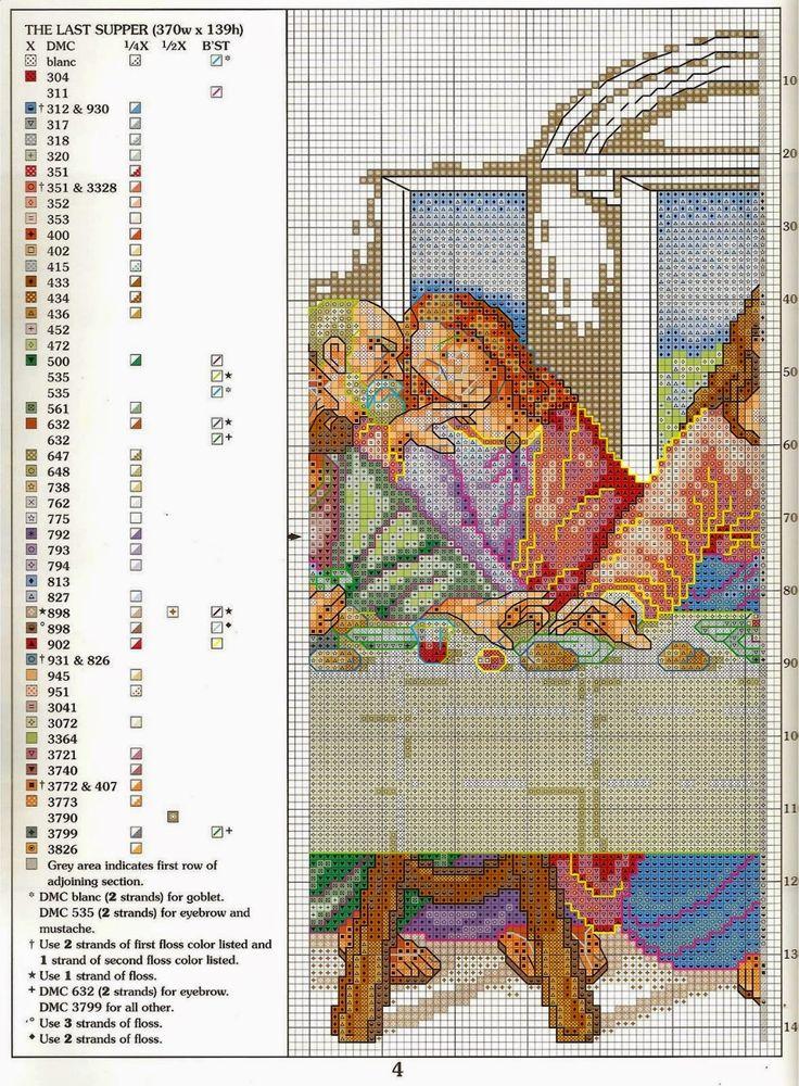schema+punto+croce+L'ultima+cena+(4).jpg (1177×1600)
