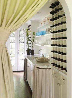 .simple elegant idea for a bar area