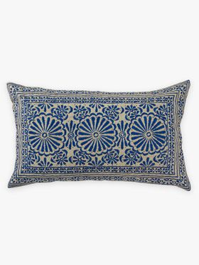 Sari cushion in Marine by Aura, available at Forty Winks.